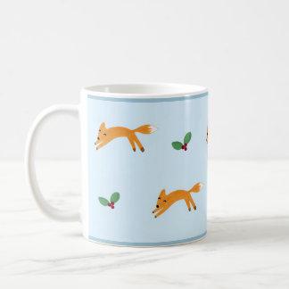 Fox & Berries Basic White Mug
