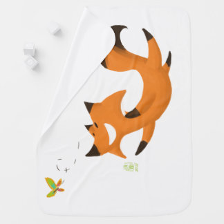 Fox butterfly baby blanket