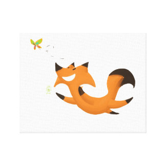 Fox butterfly canvas print