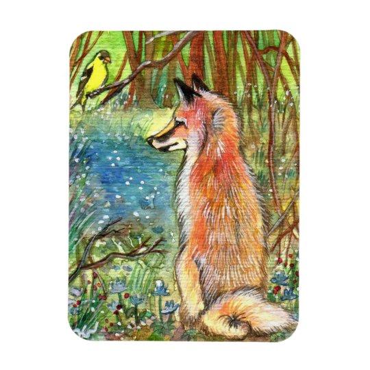 Fox By The Ravine Rectangular Photo Magnet