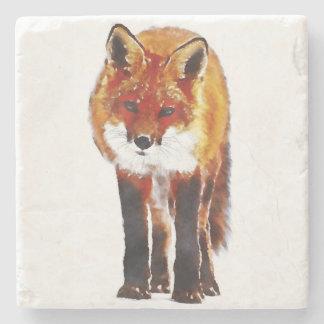 fox coaster, fox marble stone placemat stone coaster