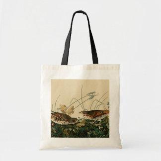 Fox coloured sparrow budget tote bag
