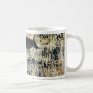 Fox Coyotes Wild Anilmal In Field Basic White Mug
