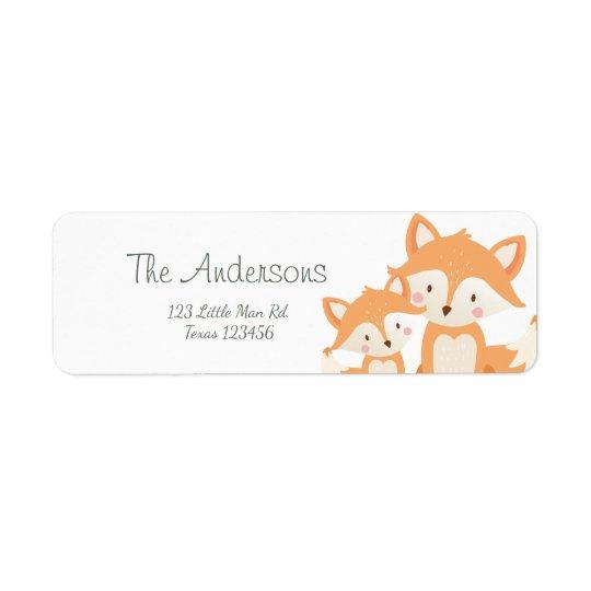 Fox cub Return Address Labels Cute Baby shower