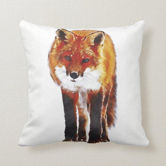 fox cushion, fox throw pillow, fox gift cushion