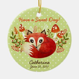 Fox Custom Ceramic Ornament Pendant