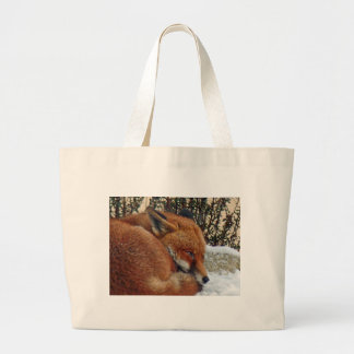 Fox day dreaming canvas bag