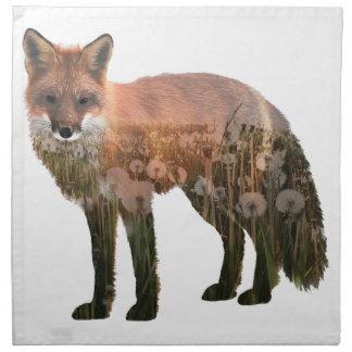 Fox Double Exposure Napkin