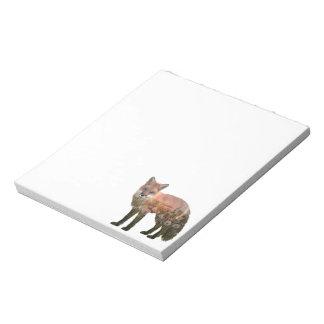 Fox Double Exposure Notepad
