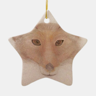 Fox face christmas ornament