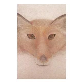 Fox face custom stationery