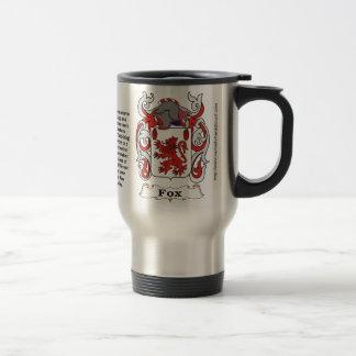 Fox Family Coat of Arms Travel Mug