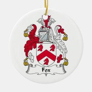 Fox Family Crest Christmas Ornament