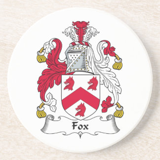 Fox Family Crest Coaster