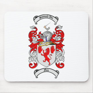 FOX FAMILY CREST -  FOX COAT OF ARMS MOUSE MAT