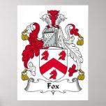 Fox Family Crest Poster