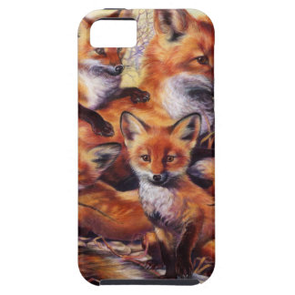 Fox Family Portrait Tough iPhone 5 Case