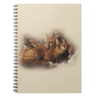 Fox Family Spiral Notebook