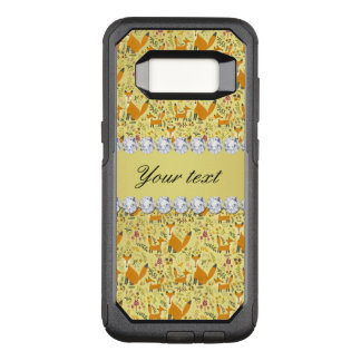 Fox Faux Gold Foil Bling Diamonds OtterBox Commuter Samsung Galaxy S8 Case