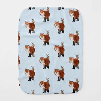 FOX & FLORAL  ANTLER OWL BURP CLOTHS