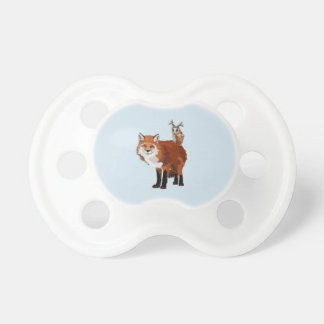 FOX & FLORAL ANTLER OWL Pacifier