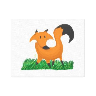 Fox garden canvas print