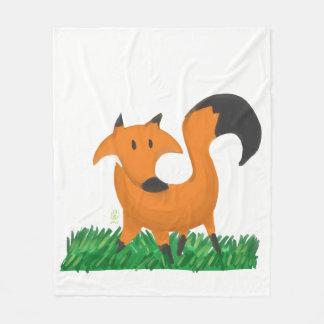Fox garden fleece blanket