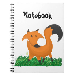 Fox garden spiral notebooks