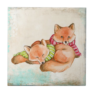 FOX GIFTS - ADORABLE CUSTOMIZABLE FOXES TILE