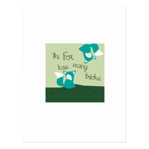 Fox Has Many Tricks Post Card