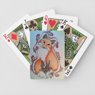 Fox & Heart Playing Cards