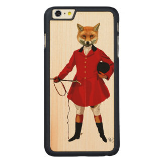 Fox Hunter 2 Full 3 Carved Maple iPhone 6 Plus Case