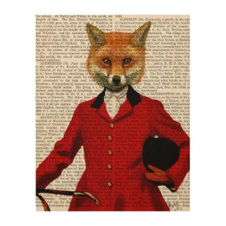 Fox Hunter 2 Portrait Wood Wall Decor