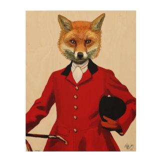 Fox Hunter Wood Print