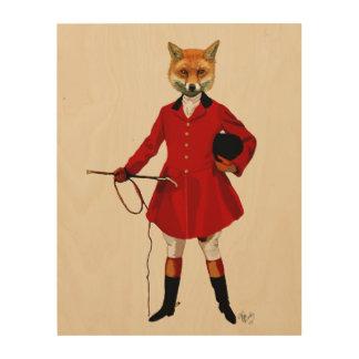 Fox Hunter Wood Wall Art