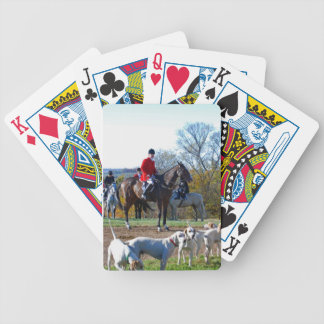 Fox hunter's playing cards