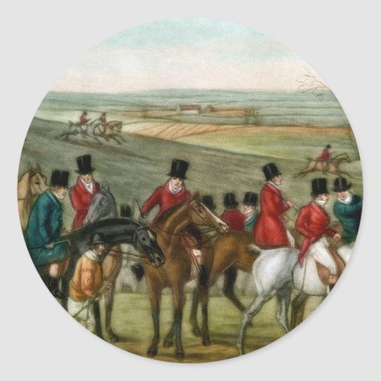 Fox Hunting 2 Classic Round Sticker