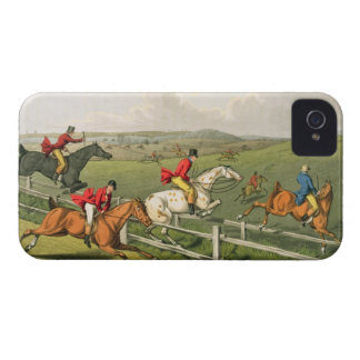Fox Hunting, aquatinted by I. Clark, pub. by Thoma iPhone 4 Covers