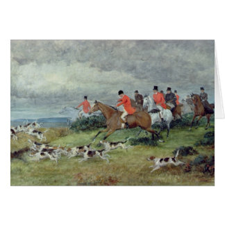 Fox Hunting in Surrey, 19th century Card