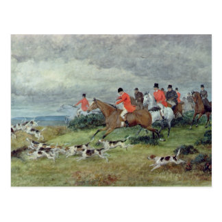 Fox Hunting in Surrey 19th century Post Cards