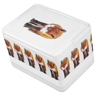 fox igloo cooler, woodland picnic gift igloo cooler