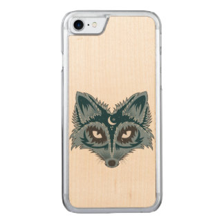 Fox Illustration Carved iPhone 8/7 Case