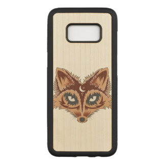 Fox Illustration Carved Samsung Galaxy S8 Case
