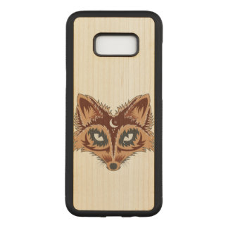 Fox Illustration Carved Samsung Galaxy S8+ Case