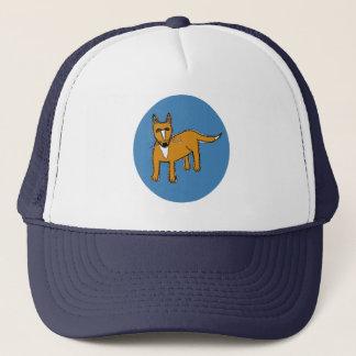 Fox Illustration in Blue Circle Trucker Hat