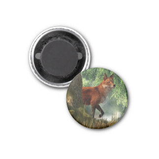 Fox in a Forest Refrigerator Magnet