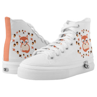 Fox in autumn printed shoes