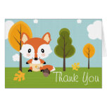 FOX IN DIAPERS BABY SHOWER THANK YOU NOTE CARD