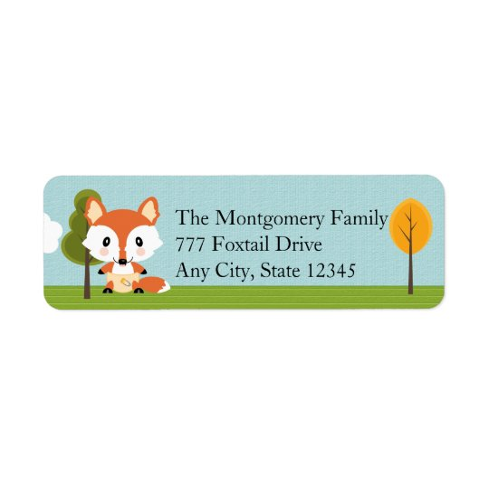 FOX IN DIAPERS RETURN ADDRESS LABEL