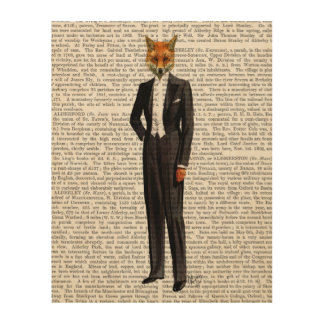 Fox In Evening Suit Full Wood Wall Art